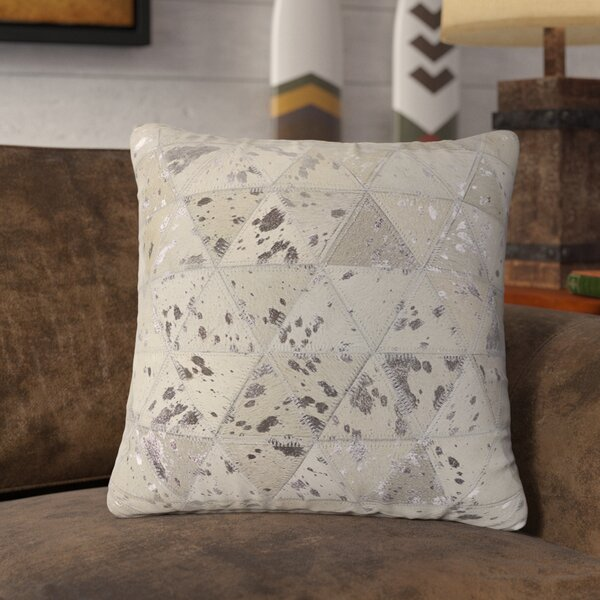 Linger Prism Leather Throw Pillow by Union Rustic