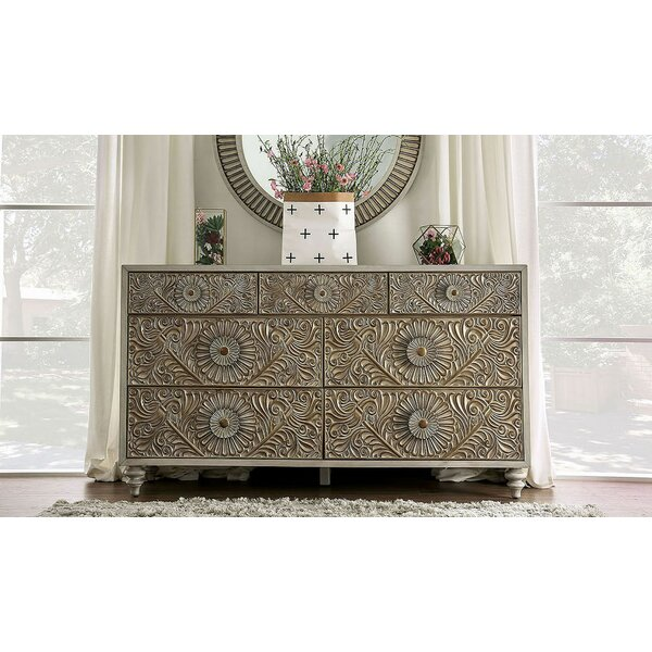 Wauwatosa Resin Floral Design 7 Drawer Dresser by Ophelia & Co.