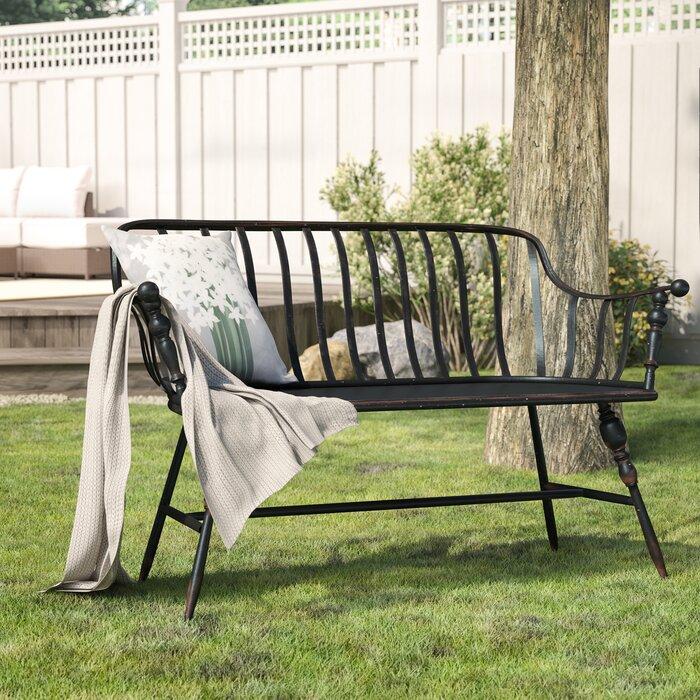 Terrific Marchant Metal Garden Bench Evergreenethics Interior Chair Design Evergreenethicsorg