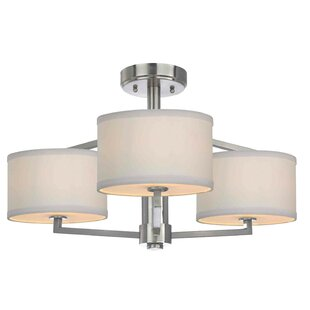 Compare & Buy Cervantes 3-Light Semi-Flush Mount By Latitude Run