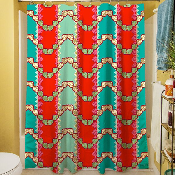 Stripe Mint Shower Curtain by Manual Woodworkers & Weavers