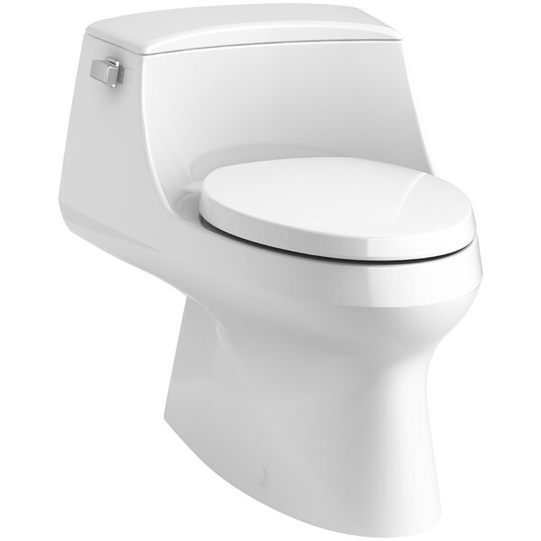 San Raphael Raphael Skirted 1-Piece Elongated 1.28 GPF Toilet with Left-Hand Trip Lever by Kohler