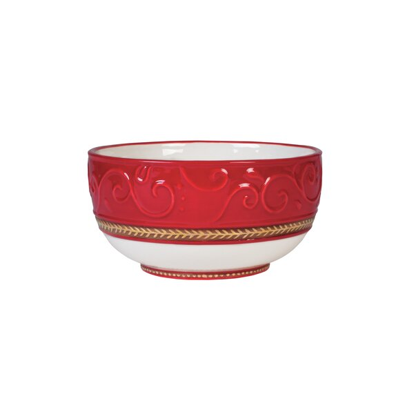 28 oz. Yuletide Holiday Cereal Bowl by Fitz and Fl