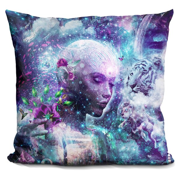 Jhonson Discovering the Cosmic Conscious Throw Pillow by Symple Stuff