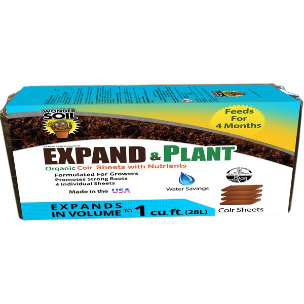 Expand & Plant Organic Soil Sheet by Hydrofarm