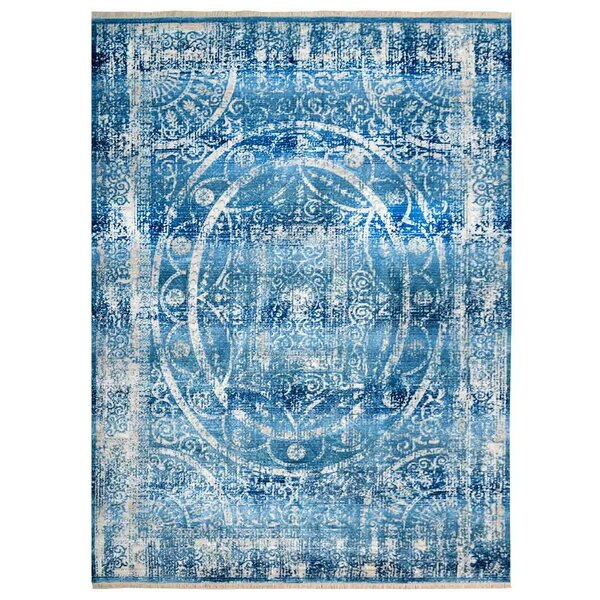 Hartshorn Blue/Cream Area Rug by Bungalow Rose
