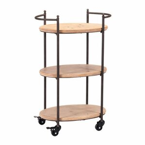 Sheraden Tri Level Bar Cart by Bungalow Rose