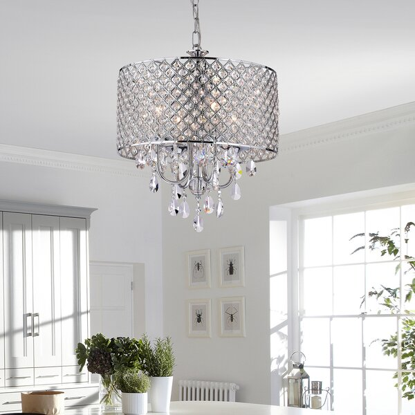 Von 4-Light Crystal Chandelier by House of Hampton