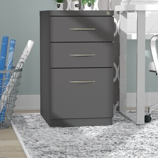 Kemmer Arch Pull 3 Drawer Mobile Vertical Filing Cabinet by Symple Stuff
