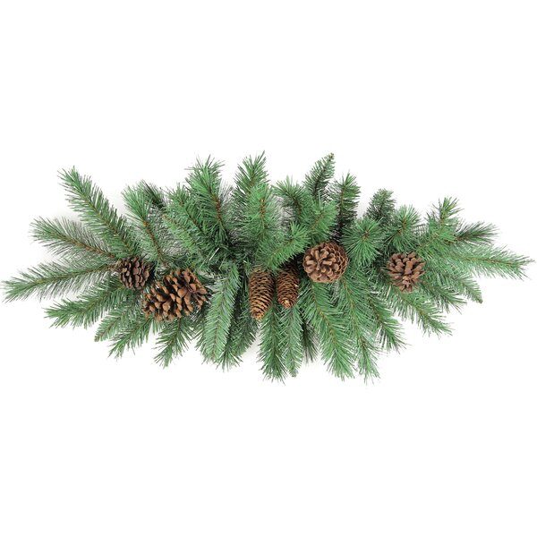 Christmas Pine Swag with Natural Pine Cone by Admi