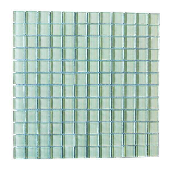 Metro 1 x 1 Glass Mosaic Tile in Arctic by Abolos