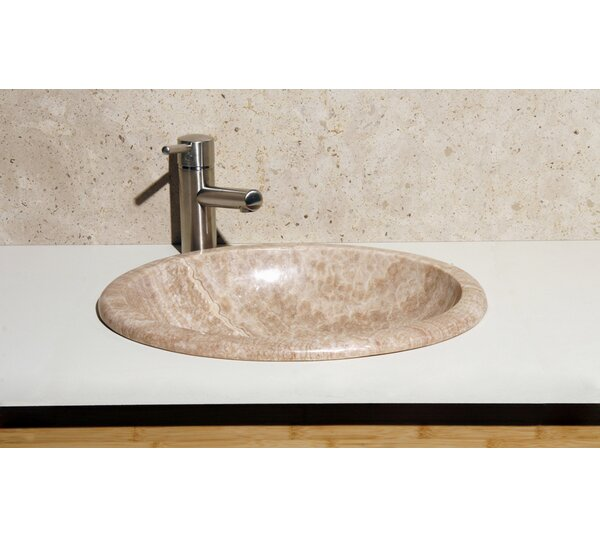 Stone Oval Drop-In Bathroom Sink by Allstone Group