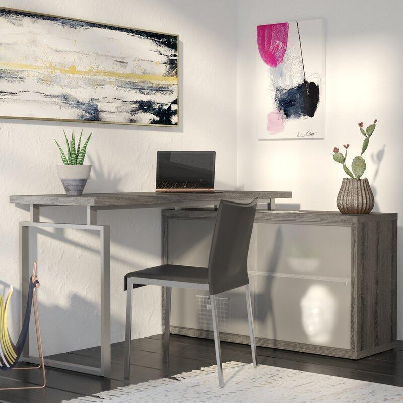 Brayden Studio Beaudry L Shaped Computer Desk Amp Reviews