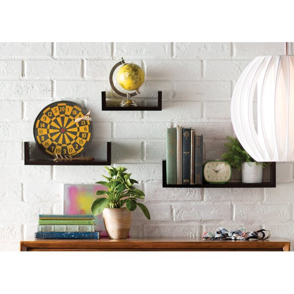 Colvard 3 Piece Floating Shelf Set by Mercury Row