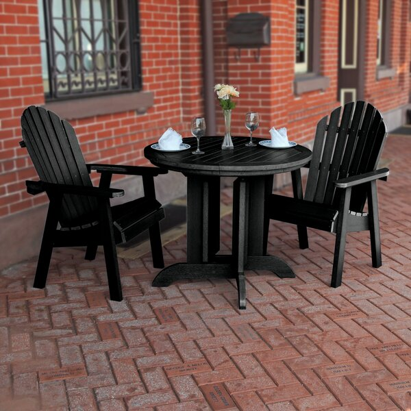 Aisha Commercial Grade Adirondack 3 Piece Bistro Set by Rosecliff Heights
