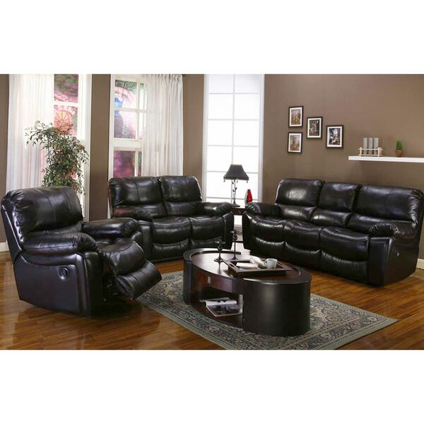Rashida Reclining Leather Configurable Living Room Set by Red Barrel Studio