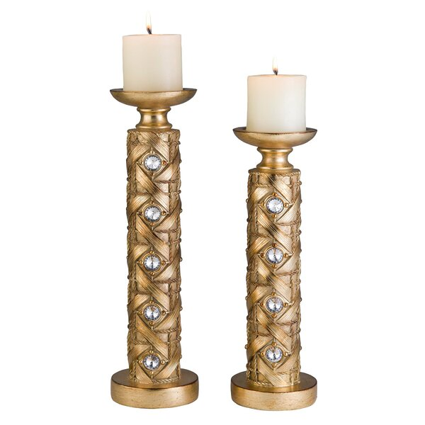 2 Piece Candlestick Set by ORE Furniture