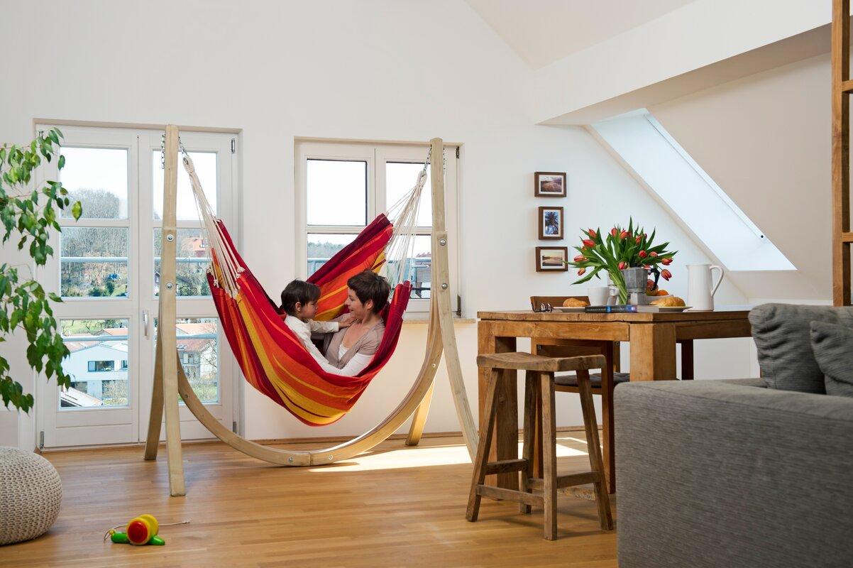 amazonas gestell f r h ngesessel taurus aus holz. Black Bedroom Furniture Sets. Home Design Ideas