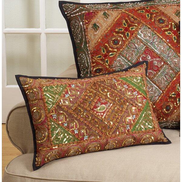 Juli Handmade Sari Sitara Design Cotton Lumbar Pillow by Bloomsbury Market