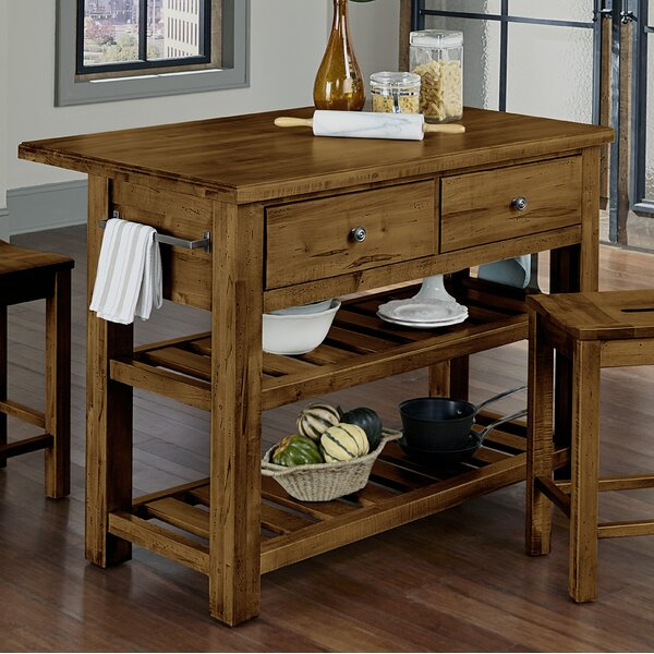 Shelton Kitchen Island Set by Loon Peak