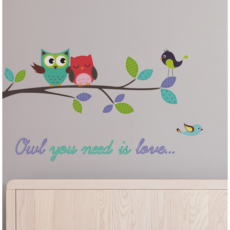 Line Owl You Need Is Love Wall Decal