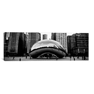 Chicago Panoramic Skyline Cityscape Bean Photographic Print on Canvas by iCanvas