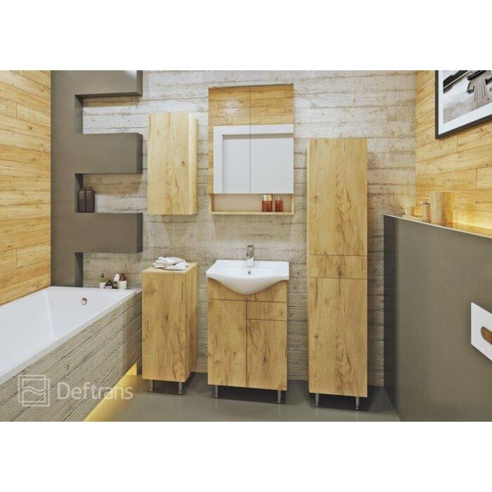 Drishya 56 Single Bathroom Vanity Set With Mirror