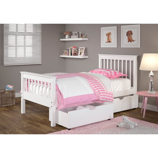 Abney Twin Slat Bed with Drawer [Harriet Bee]