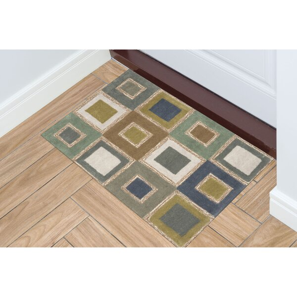 Nelda Big Squares Indoor/Outdoor Rug by Ebern Designs