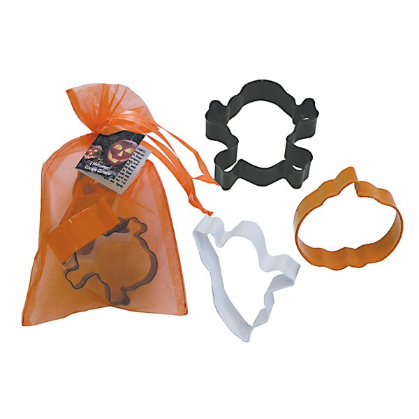 3 Piece Halloween Cookie Cutter Set In Bag by R & M International Corp.