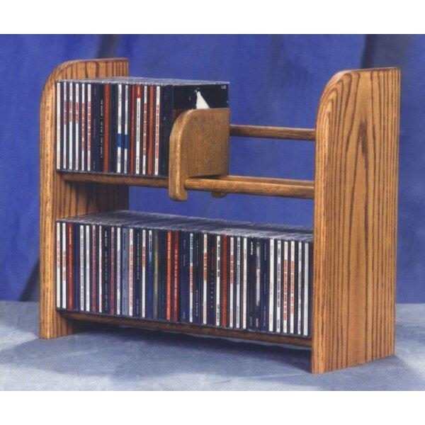 84 CD Multimedia Tabletop Storage Rack By Rebrilliant