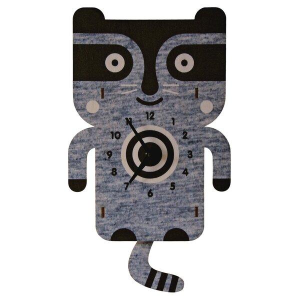 Raccoon Pendulum Wall Clock by Modern Moose