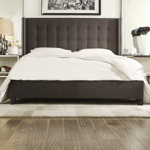 Obsidian Upholstered Platform Bed by House of Hampton