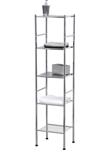 12.6 W x 52.4 H Bathroom Shelf by Evideco