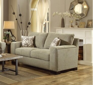 Gowan Loveseat by Homelegance