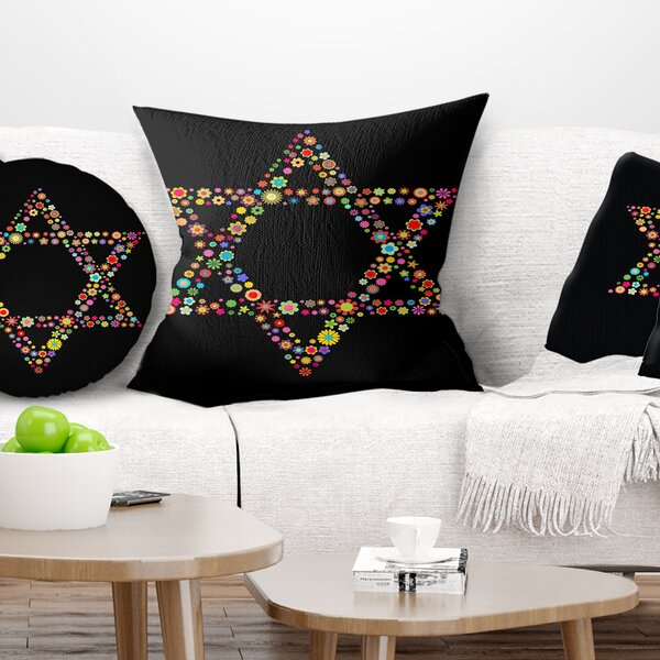 Abstract Star of David Shape Pillow by East Urban Home