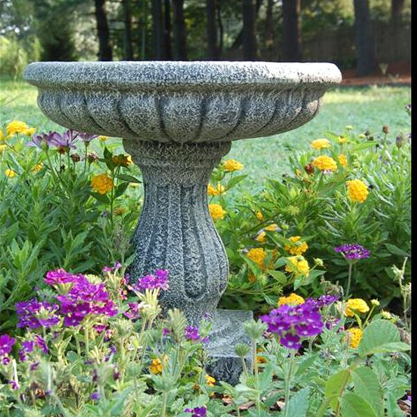 Fluted Birdbath by Ladybug Garden Decor