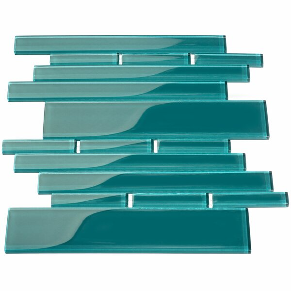 Club Glass Mosaic Tile in Dark Teal by Giorbello