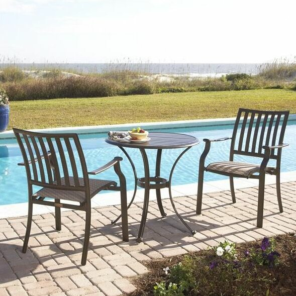 Island Breeze 3 Piece Bistro Set by Panama Jack Outdoor