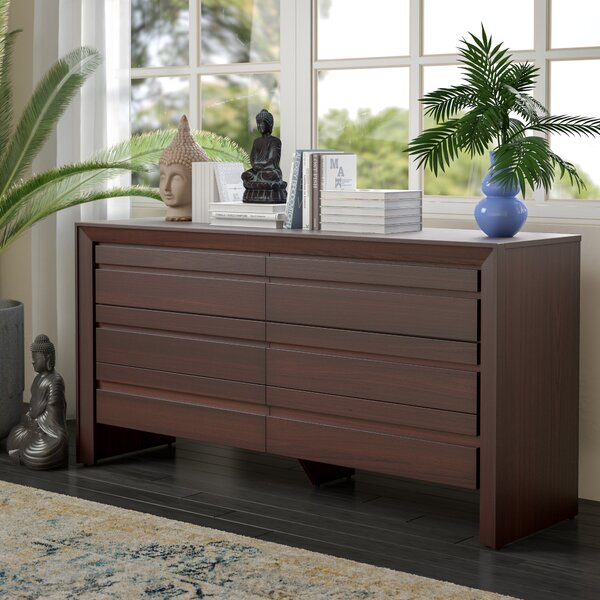 Aries 6 Drawer Double Dresser by Mistana