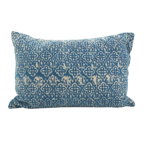 Rupert Cross Oblong Down Filled Lumbar Distressed Pillow by Bungalow Rose