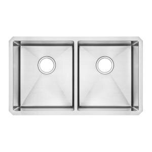 35.25 L x 21.25 W Undermount Double Bowl Kitchen Sink by American Standard