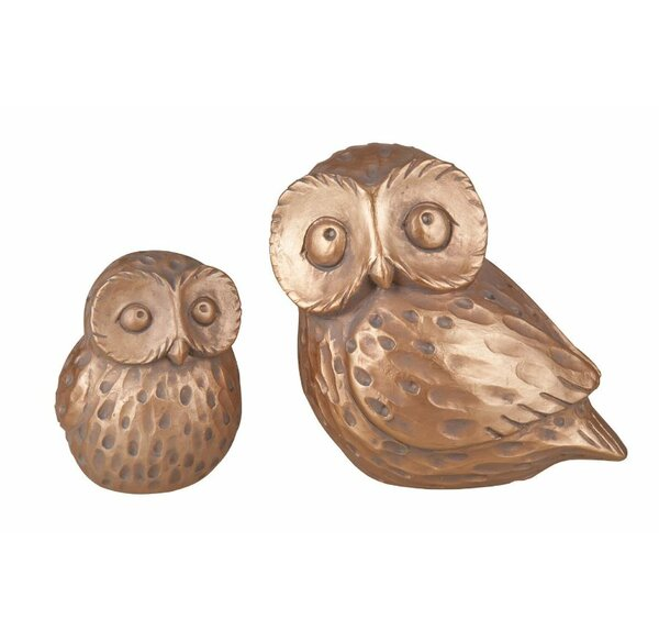 Resin Owl Figurine Set (Set of 2) by August Grove