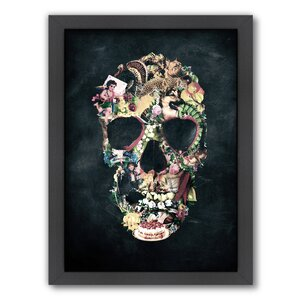Vintage Skull by Ali Gulec Framed Graphic Art by Americanflat