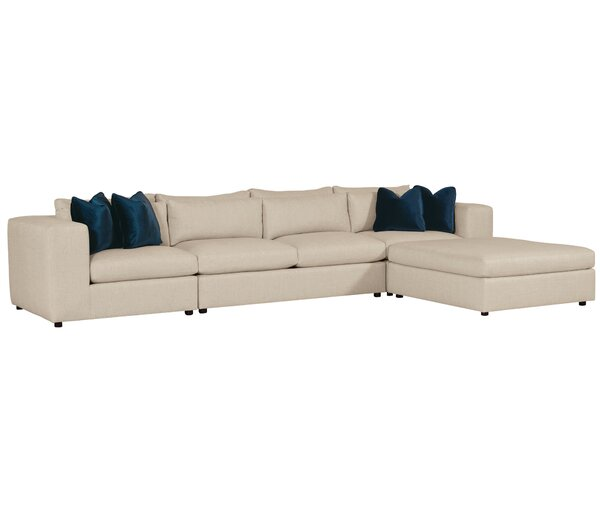 Como Sectional with Ottoman by Bernhardt
