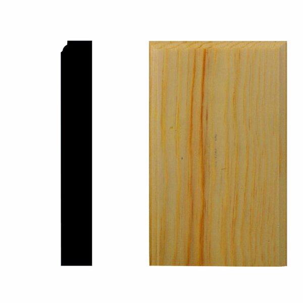 7/8 in. x 2-1/2 in. x 5 in. Pine Plinth Block Moulding by Manor House