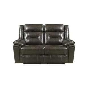 Marlink Leather Reclining Loveseat Red Barrel Studio 2018 Coupon