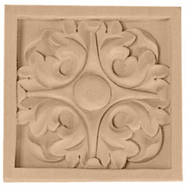 3 1/2H x 3 1/2W x 3/4D Medium Leaf Rosette by Ekena Millwork