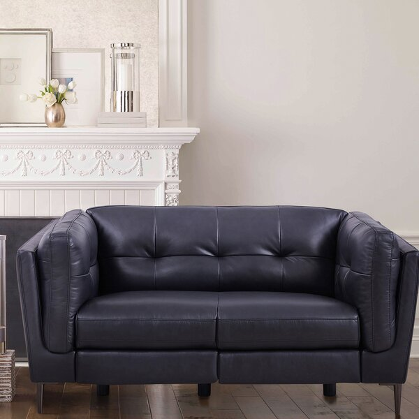 Goodner Leather Reclining Loveseat By Latitude Run 2019 Coupon