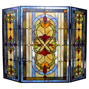 Glass Stained Glass Fireplace Screens You Ll Love Wayfair